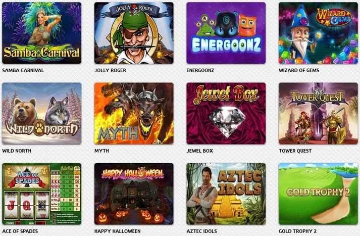 Games selection available on Flamantis Casino