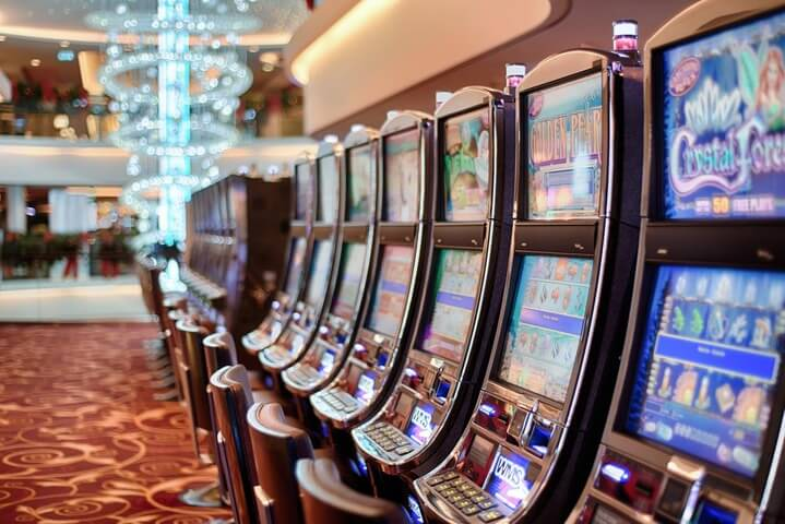 Typical casino slot machines