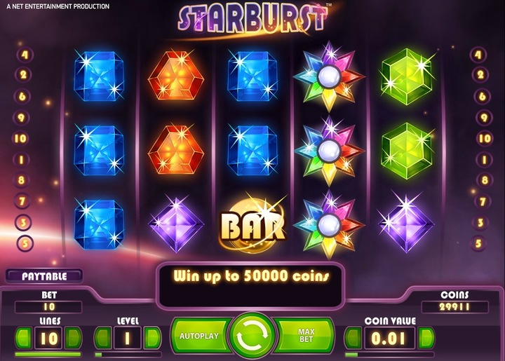 Preview of Starburst online slot